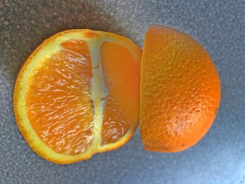 Orangenhälften für Methapher für den Konsens