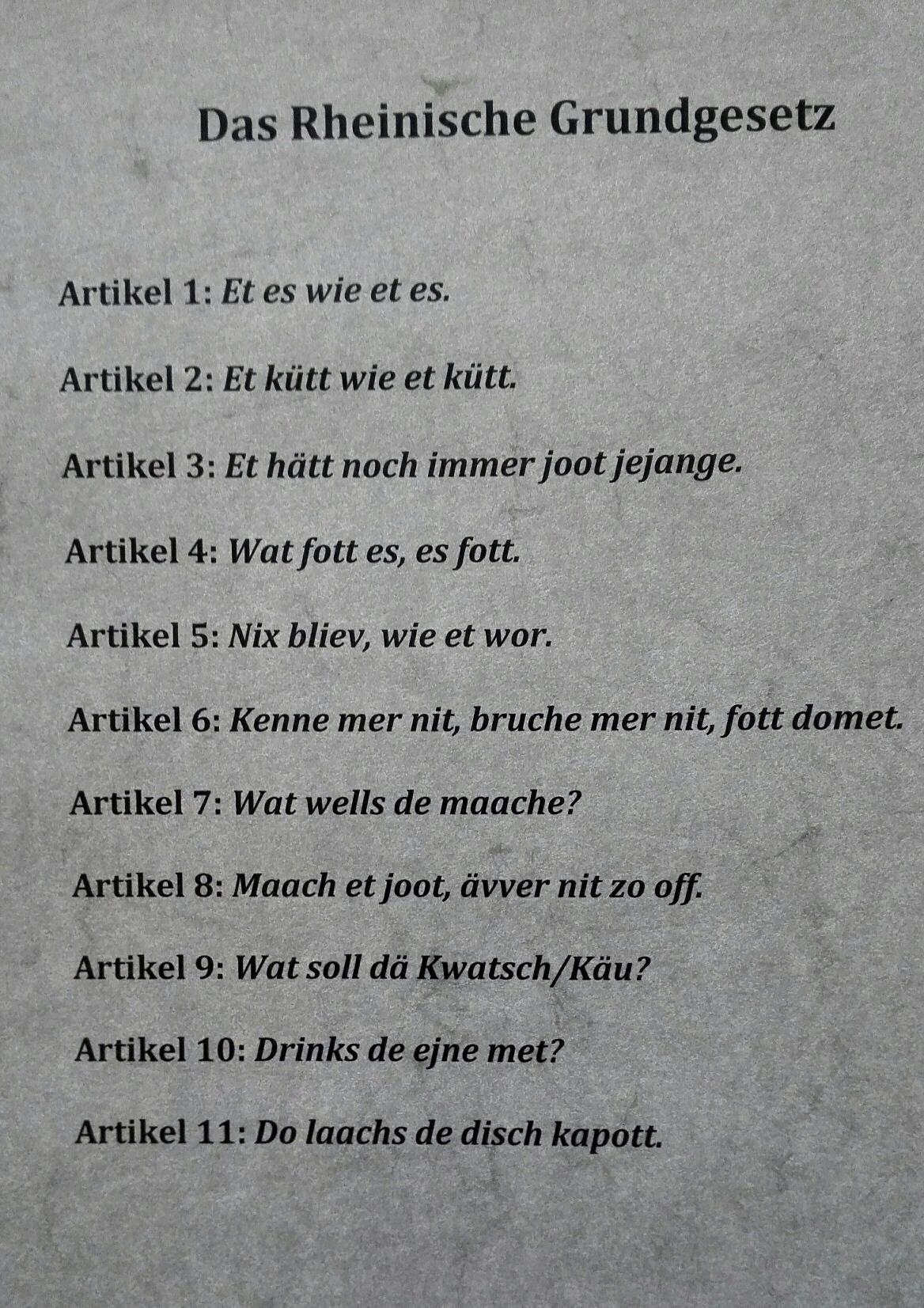 Rheinisches Grundgesetz